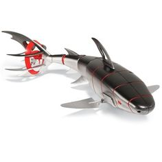 The Remote Controlled Robotic Bull Shark - Hammacher Schlemmer. So cool! Cool Technology, Technology Gadgets, Futuristic Technology, Gadgets And Gizmos, Tech Gadgets, Animal Robot, Arte Robot, Hammacher Schlemmer, Tech Toys