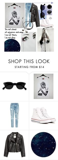 """""""Chester Bennington Tribute"""" by significantlyinsignificant ❤ liked on Polyvore featuring GRLFRND, Converse, H&M, LinkinPark, contestentry, RIP, bandtees and chesterbennington"""