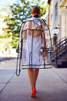 Miu Miu Transparent Raincoat Spring Fashion Trend - Wheretoget