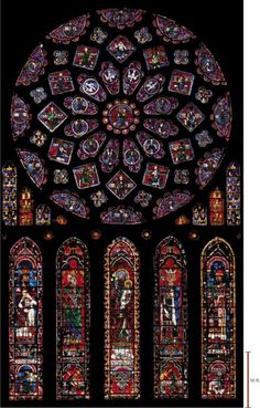 Rose window, Chartres Cathedral