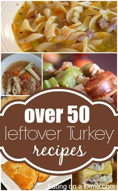 Over 50 delicious Leftover Turkey Recipes to help you get rid of the leftovers this year.