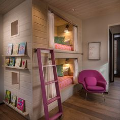 "Girls Bedroom With Bunk Beds house"" bunk beds cool!! oh my goodness! this would b so cool for"