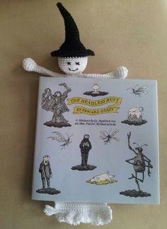 Gehaakte boekenlegger Spookje (patroon van garnstudio.com)