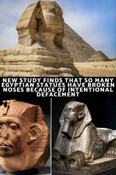 New Study Finds That So Many Egyptian Statues Have Broken Noses Because Of Intentional Defacement Ancient Egyptian Artifacts, Broken Nose, Cultural Beliefs, Confederate Monuments, Beautiful Snakes, Egyptian Queen, Weird World, Mind Blown, Horror Movies