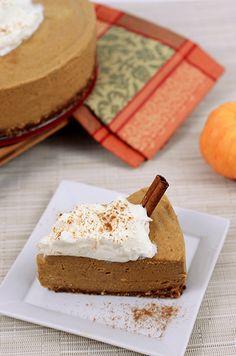 Paleo Pumpkin Cashew Cheesecake
