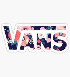 Vans Logo Floral Sticker