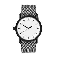 No.1 Twain granite features a black 40mm stainless steel case with a detachable wristband. #watches #design