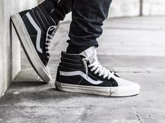 Fear of God x Vans - 2016 (by. – Fear of God x Vans - 2016 (by trvpped_shadows) Vans Sk8 Hi Outfit, High Top Vans Outfit, Vans Outfit Men, Sk8 Hi Vans, Mens Vans Shoes, Vans Men, Vans Sk8 High, Vans Sneakers, Ankle Sneakers