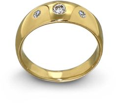 Arosha Luigi Taglia Three Diamond Gold Wedding Band on shopstyle.com