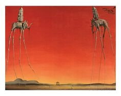 Les Elephants Prints by Salvador Dalí at AllPosters.com