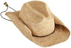 ae5858241c7 San Diego Hat Company Women s Crocheted Raffia Cowboy Hat