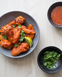 Sriracha Chicken Wings Recipe on Food & Wine