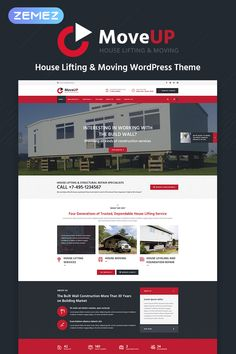 MoveUp - House Lifting And Moving WordPress Theme Architecture Company, School Architecture, Website Design Inspiration, House Lift, Foundation Repair, Web Design, Photography Templates, Best Architects, Construction Services