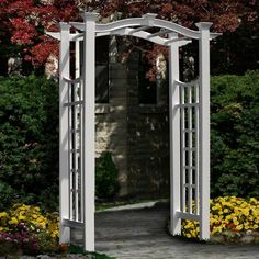 The Florence Vinyl Arbor offers a beautiful swoop arch design to add a graceful accent to your yard, garden or pathway. Designed with the most authentic architectural detail, this arbor is combines the classic arch look with the modern flat top. Arbors create a charming entrance to your yard or garden, helping define the concept of the outdoor room. Made of premium weather-resistant vinyl, and virtually maintenance free. Never stain, paint, or maintain your arbor again! We manufacture all of…