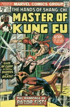 Master of Kung Fu # 29 - Cover by Gil Kane & Al Milgrom Marvel Comic Character, Marvel Comic Books, Comic Books Art, Comic Book Artists, Comic Artist, X Men, Iron Man, Marvel Comics Superheroes, Spiderman