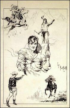 Cap'n's Comics: Some Sketchy Frank Frazetta