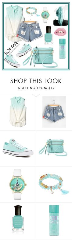 """Romwe"" by amraa-145 ❤ liked on Polyvore featuring Gap, Converse, Deluxity, Kate Spade and Deborah Lippmann"