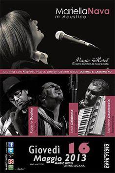 A Cena con Mariella Nava – Atena Lucana Scalo - http://www.portarosa.it/a-cena-con-mariella-nava-atena-lucana-scalo.html #cilento #eventicilento #musica #mariellanava