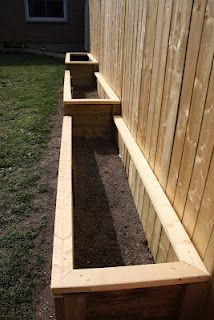 Raised Garden Bed-Neat way to do my beds on the slope!