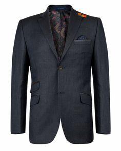 SOKUPS - Wool blazer - Navy | Men's | Ted Baker UK