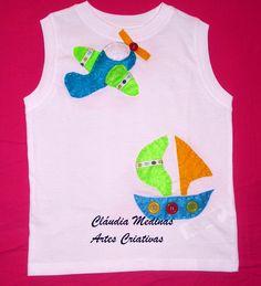 T´shirt de algodão com aplicação de feltro e botões tshirt de, de feltro, de algodão, aplicação de, art decorativa