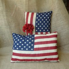 Patriotic American Flag decor holiday decor small by RaggedyRee, $12.00