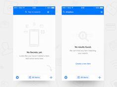Secrets - iOS Error & Empty Screens