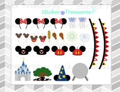 It is one sticker sheet with 24 Disney World themed stickers for your planner. 1- Magic Kingdom castle 1- Animal Kingdom Icon 1- Hollywood