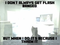 Video Game Flash Banged Meme #cod #videogames