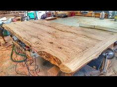Making a Cherry Wood Table from a Log - YouTube