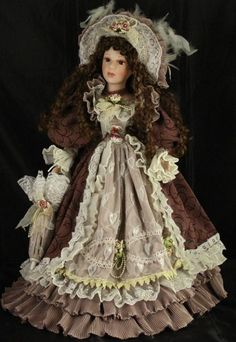 "Cathay Collection Beautifully Dressed Victorian Porcelain Doll (20"")"