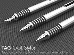 TAGTOOL Stylus Mechanical Pencil & Pens in Titanium by GRIFITI, via Kickstarter.