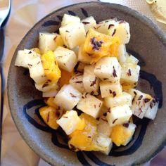 Ensalada de chapulines con jícama y mango (Hotel Cosijo, Oaxaca)