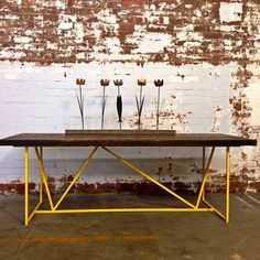 Just delivered this table. #vintage #retro #industrialfurniture