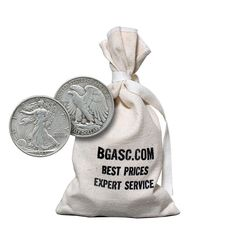 """Item specifics   Seller Notes: """"90% Silver half dollars.  Buy from BGASC – one of the largest, fastest, most trusted online precious metals dealers in the U.S.""""       Coin:   US 90% Silver Coinage   Grade:   Ungraded   ..."""