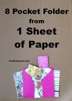 Ideas Diy Paper Folder Art Journals For 2019 Envelope Book, Diy Envelope, Scrapbook Journal, Scrapbook Paper, Mini Scrapbook Albums, Paper Folder, Paper Pocket, Idee Diy, Fun Fold Cards
