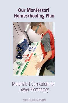 Homeschool Materials & Curriculum for Lower Elementary Montessori
