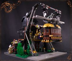 "The USM is the fastest way to travel on the ""ground"" on Her Majesty's Empire. It can take up to 8 passengers and drive them rapidly and comfortably to destination. Made for the ""LEGO Steampunk Rock and Roll Competition"""
