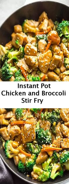 Instant Pot Chicken and Broccoli Stir Fry #InstantPot #Chicken#Broccoli #StirFry #crockpotstirfry