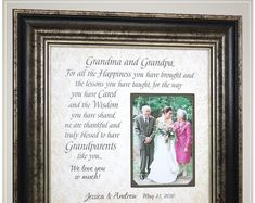 Wedding Gift for Grandparents Thank You Gift