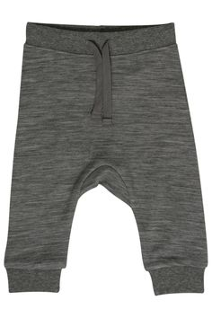 Hust & Claire -Babybukse i ull/bambus Wool grey - str 80