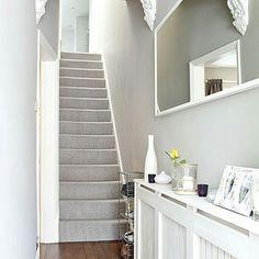 Grey carpet on stairs
