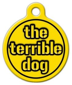 """Your pet loves everything that you do, including sports. If you love the Steelers, then so will your pet with one of our flashy Steelers custom dog tags! The """"Terrible Dog"""" pet ID tag lets your pet show his support for Steelers in true spirit. This stylish tag is very sturdy and printed after the Terrible Towel, the Steeler's fans most identifiable symbo. And of course this custom pet tag is also printed in the iconic black and gold colors."""