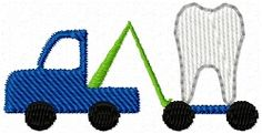 Tooth Fairy Tow Truck Mini | Trucks | Machine Embroidery Designs | SWAKembroidery.com
