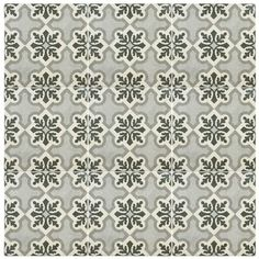 "Modern Moroccan Mosaic Tile House Bahja 8"" x 8"" Cement Tile in Black and White 