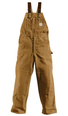 Carhartt Men's Duck Bib Unlined Overall Salopette Carhartt, Winter Clothes, Winter Outfits, Steampunk Mechanic, Unif, Dungarees, Boy Outfits, Hunting, Khaki Pants