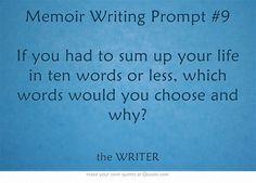 Memoir Writing Prompt