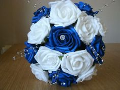 blue and white wedding bouquets | Home, Furniture & DIY > Wedding Supplies > Flowers, Petals & Garlands