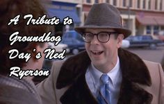 Bill Murray as Phil Connors and Stephen Tobolowsky as Ned Ryerson in Groundhog Day a 1993 romantic comedy film movie shared by Movie Memes, Movie Facts, Movie Quotes, Phil Connors, Groundhog Day Movie, So Laughable, English Short Stories, Minion Movie, Humor