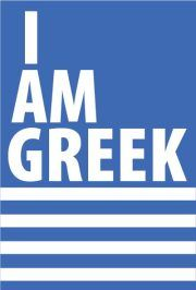 I Am Greek, and i' m proud of it! Old Posters, Greek Flag, Tarpon Springs, Greek Culture, Meaningful Life, It's Meant To Be, Greek Quotes, Greeks, Greek Life